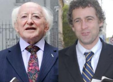 Michael D Higgins and Mark Daly