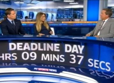 Sky Sports News: it's their Christmas.