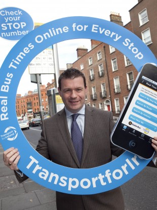 Minister of State Alan Kelly launching the new service.