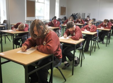 Students sit the Junior Cert exams earlier this year