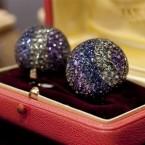 Diamond and multi-colored sapphire