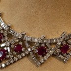 A ruby and diamond necklace, a gift for Taylor from Mike Todd, estimated at $200,000 - $300,000. (AP Photo/Richard Drew)