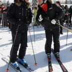 Medvedev and Putin skiing during a trip to the Rosa Khutor ski resort in Krasnaya Polyana in February 2011. (Alexei Druzhinin/AP/Press Association Images)