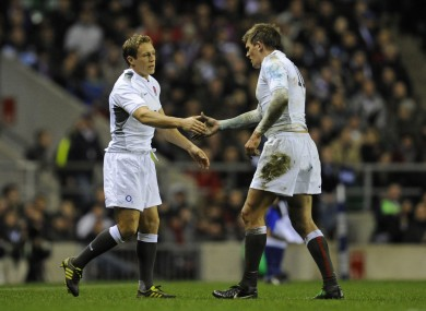Wilkinson and Flood are competing for a place in the England team.