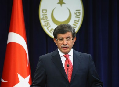 Turkey's foreign minister Ahmet Davutoglu speaks to the press after announcing the expulsion of Israel's ambassador on Friday.