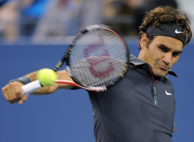Still got it: Federer cruised past Juan Monaco in the fourth round 6-1, 6-2, 6-0.