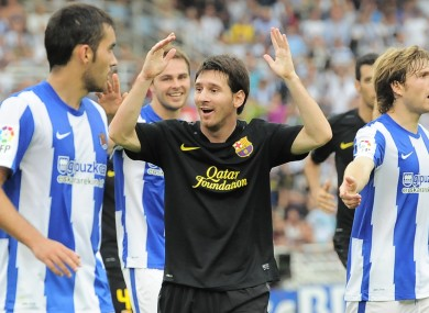 Messi was left frustrated as Barca experienced a rare draw at the weekend.