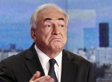 Strauss-Kahn during an interview on French TV