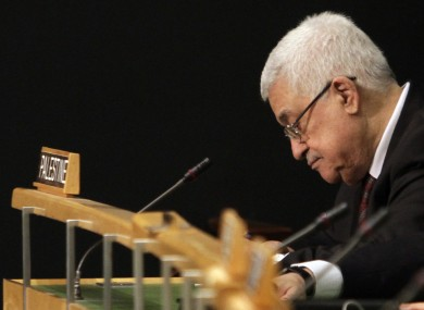 Abbas at the UN General Assembly