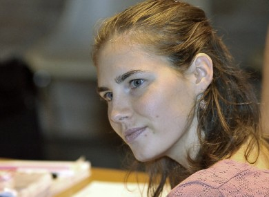 Amanda Knox in court in Perugia, Italy today.