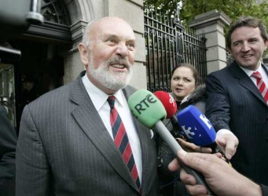 David Norris declined to comment to the media outside Leinster House following his meeting with TDs and Senators.