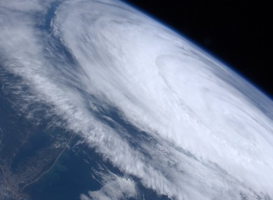 This photo, taken by astronaut Ron Garan aboard the international space station, shows the size of Hurricane Katia as it clears North America and heads on its way to Europe.
