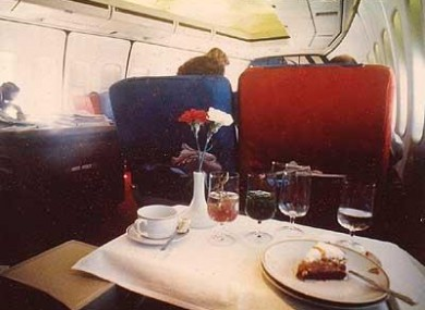 Back in the day - PAN AM flights provided