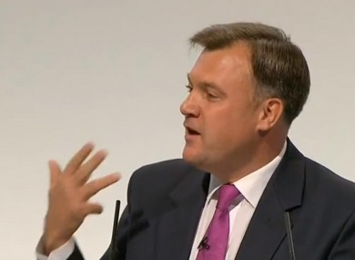 Count my fingers: Ed Balls speaking today
