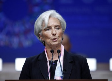 Christine Lagarde at the IMF/World Bank meetings yesterday.