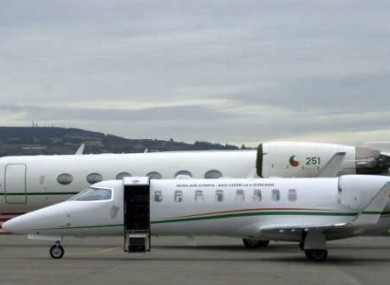 The government Learjet brought the 14-year-old to Heathrow earlier today.