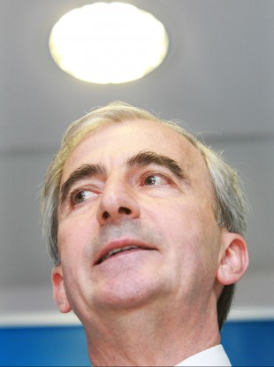 Gay Mitchell, pictured at the launch of his presidential bid