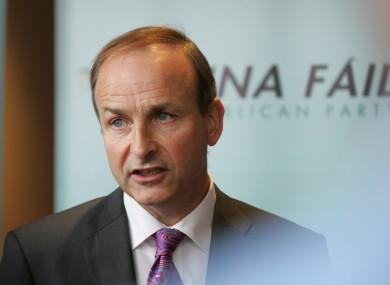 Micheál Martin at the Fianna Fáil think-in last month