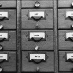 Library index card chest, 1999.
