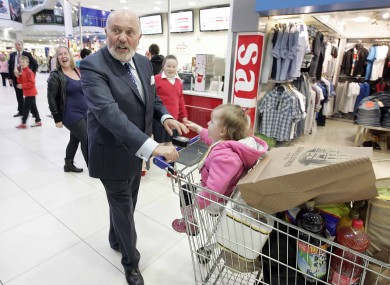 David Norris canvassing at The Square in Tallaght, Dublin this evening.