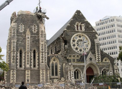 A file photo of the damaged cathedral in February 2011.