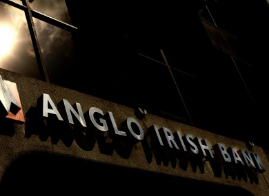 The sign at Anglo's former Dublin HQ