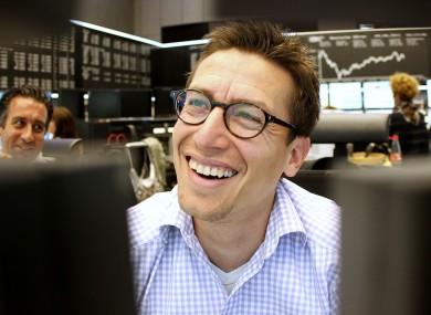A happy trader (File photo)