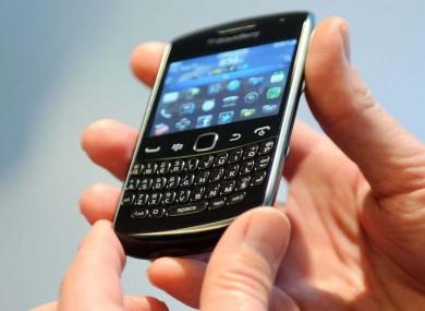 A BlackBerry handset