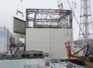 A radiation shield is being built around the Fukushima reactor to prevent further contamination