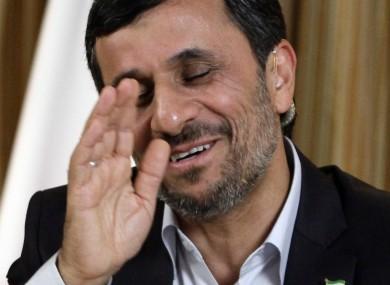 Ahmadinejad in New York last month