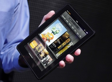 The Kindle Fire tablet at its unveiling last month