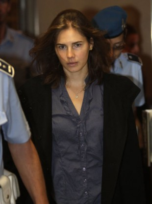 Amanda Knox at the court in Perugia, Italy on Friday.