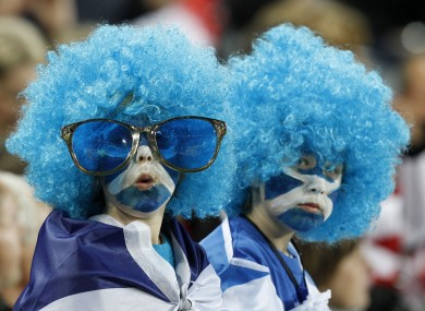 Scottish fans watching they game they apparently invented.