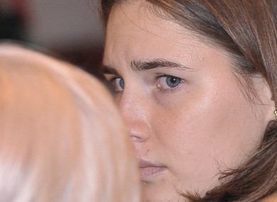 Amanda Knox in court earlier today.