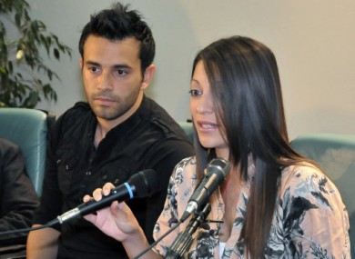 Lyle and Stephanie Kercher, siblings of murdered Meredith Kercher, speaking today in Italy.