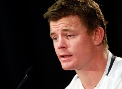 A devastated Brian O'Driscoll in post-match interview.