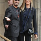 Ringo Starr and wife Barbara Bacharrive arrive for the wedding (John Stillwell/PA Wire)