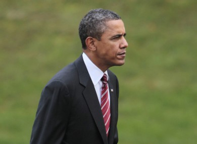 Obama pictured today in Bethesda, Maryland