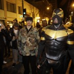 Feburary 2011 photo of Phoenix Jones in downtown Seattle. (AP Photo/Ted S. Warren/PA Images)