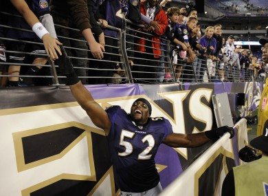 Ray Lewis: this particular gambler's new best friend.