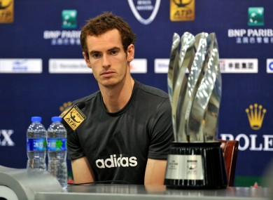 Murray overtook Federer in the world rankings following his victory yesterday.