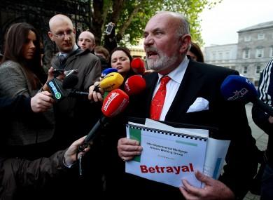 David Norris speaking to the media earlier this week.