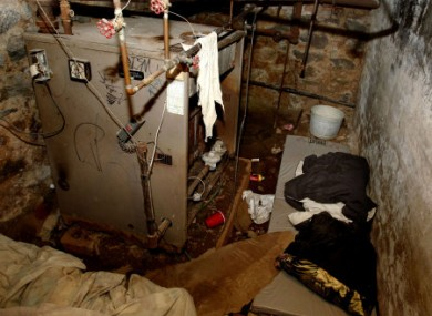 the basement room where four people were found locked inside last