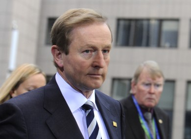 Enda Kenny arriving at the Brussels summit yesterday
