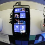 The Nokia Lumia 800 on display in London (AP Photo/Sang Tan)