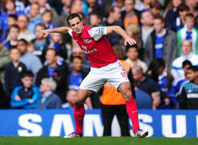 Robin Van Persie personified Arsenal's fist-pumping defiance