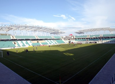 The A Le Coq Arena will be the venue for the first leg of Ireland's play-off.