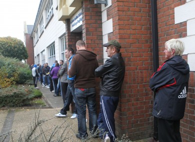 [File photo] Dole queues in Dublin