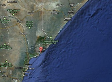 Manda Island, close to the Kenya-Somalia border