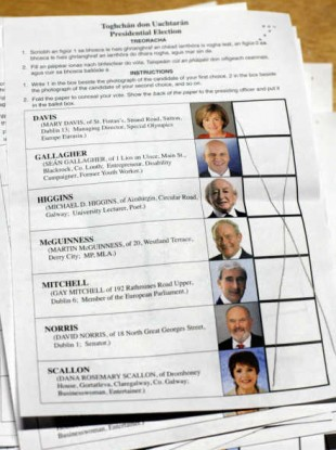 A spoiled ballot paper from the Presidential election - Liam Nolan argues that he would have liked the chance to have voted at all.